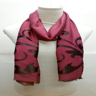 Premium Maroonish Black  Stole- Brasso fabric
